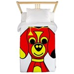 Red Beagle Dog Twin Duvet