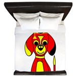 Red Beagle Dog King Duvet