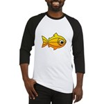 goldfish-yellow-background Baseball Jersey