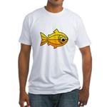goldfish-yellow-background.png Fitted T-Shirt