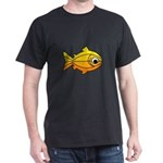 goldfish-yellow-background Dark T-Shirt