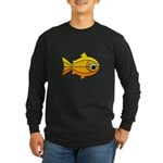goldfish-yellow-background Long Sleeve Dark T-