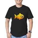 goldfish-yellow-background Men's Fitted T-Shir