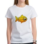 goldfish-yellow-background.png Women's T-Shirt