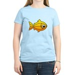 goldfish-yellow-background Women's Light T-Shi