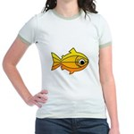 goldfish-yellow-background Jr. Ringer T-Shirt