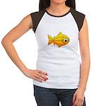 goldfish-yellow-background.png Women's Cap Sleeve