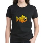 goldfish-yellow-background Women's Dark T-Shir