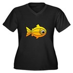 goldfish-yellow-background Women's Plus Size V
