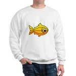 goldfish-yellow-background Sweatshirt
