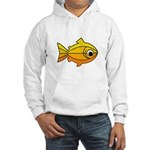 goldfish-yellow-background Hooded Sweatshirt