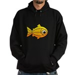 goldfish-yellow-background Hoodie (dark)