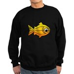 goldfish-yellow-background Sweatshirt (dark)