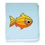 goldfish-yellow-background baby blanket