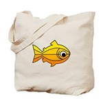 goldfish-yellow-background Tote Bag