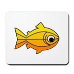 goldfish-yellow-background Mousepad