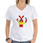 Bad Habit Rabbit Women's V-Neck T-Shirt