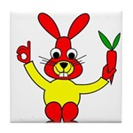 Bad Habit Rabbit Tile Coaster