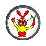 Bad Habit Rabbit Wall Clock