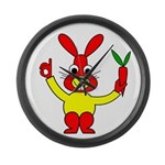 Bad Habit Rabbit Large Wall Clock