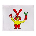 Bad Habit Rabbit Throw Blanket