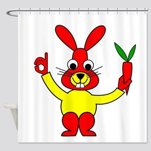 Bad Habit Rabbit Shower Curtain