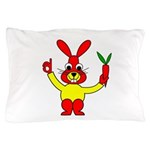 Bad Habit Rabbit Pillow Case