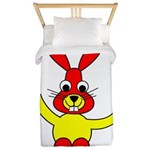 Bad Habit Rabbit Twin Duvet