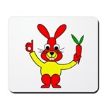 Bad Habit Rabbit Mousepad