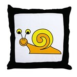 Take it Easy Snail Throw Pillow