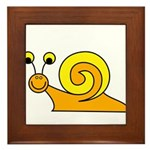 Take it Easy Snail Framed Tile