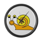 Take it Easy Snail Large Wall Clock