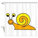 Take it Easy Snail Shower Curtain