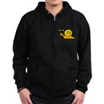 Take it Easy Snail Zip Hoodie (dark)