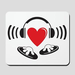 Love the DJ, love to DJ headphones design Mousepad
