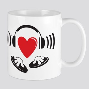 Love the DJ, love to DJ headphones design Mug
