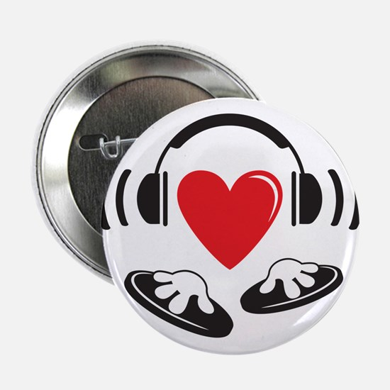 "Love the DJ, love to DJ headphones design 2.25"" Bu"