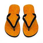 Orange and Yellow Micro Dots Flip Flops