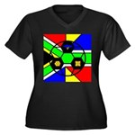 South Africa Women's Plus Size V-Neck Dark T-Shirt