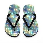 Pastel Neon Lights Abstract Flip Flops