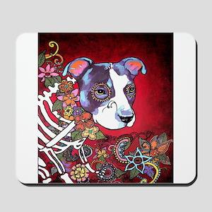 DiaLos Muertos dog Mousepad