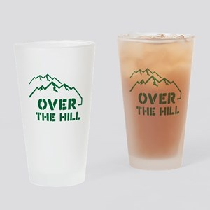 Over the hill mountain range design Drinking Glass