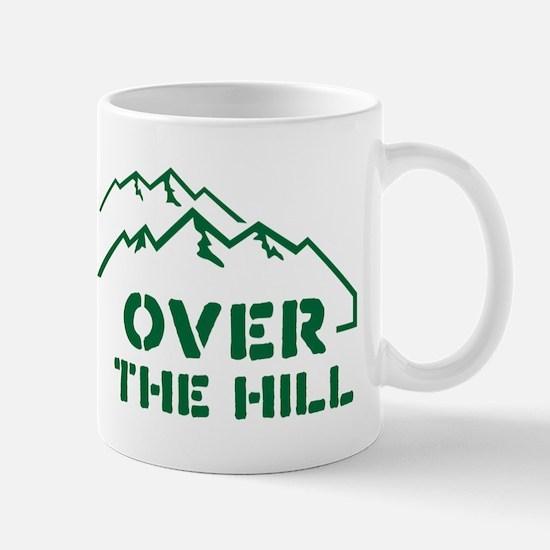 Over the hill mountain range design Mug