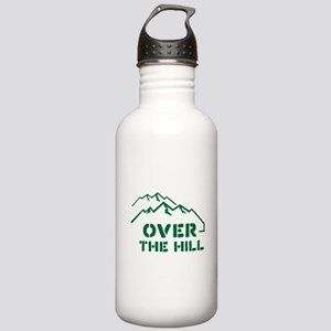 Over the hill mountain range design Water Bottle