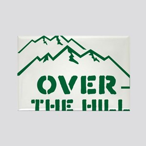 Over the hill mountain range design Rectangle Magn