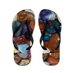 Polished Rocks of the Rainbow Flip Flops