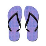 Purple and Pink Diamonds Flip Flops