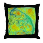 The Green Earth Abstract Throw Pillow