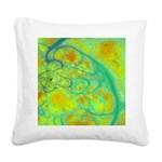 The Green Earth Abstract Square Canvas Pillow