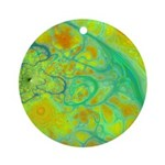 The Green Earth Abstract Ornament (Round)